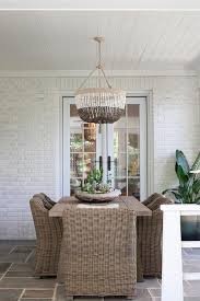 sunroom dining space with slate tiles transitional dining room