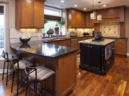 light wood floors and kitchen cabinets brown and white kitchen