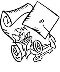 Cap And Scroll Coloring Pages
