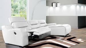 canape relax cuir blanc canapes design soldes maison design wiblia com