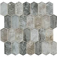 ms international savoy picket pattern 12 in x 12 in x 8 mm glass