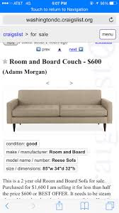 Crate And Barrel Petrie Sofa Look Alike by 80 Best Craigslist Images On Pinterest Crates Dressers And Couch