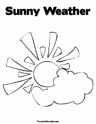 Coloring Pages Sunny Weather