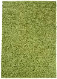 carpet city hochflor shaggy teppich langflor teppiche einfarbig uni grün für wohnzimmer schlafzimmer 3 cm florhöhe größe 70x140 cm