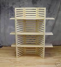Wonderful Portable Shelves Charming Design Display Shelf With 3 EBay Stands