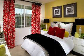 Bedroom Design Bed Decoration Modern White Picture Frame Also Red Curtain Drawer For Amazing Romantic Your