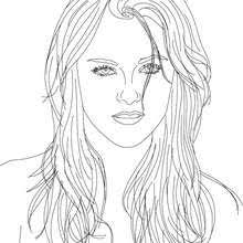 Kristen Stewart Coloring Pages