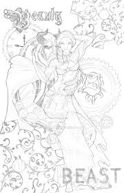 Steampunk Beauty And The Beast By Sorah Suhng On DeviantArt Adult Coloring PagesColoring BooksDisney