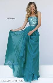 1984 sherri hill sherri hill prom long blue green prom dress
