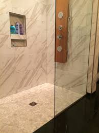 shower pebble tile installation pictures amazing how to tile