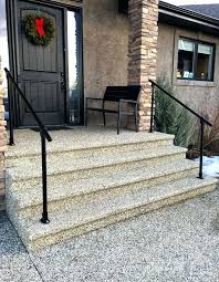 Outdoor Stair Railing Ideas Wrought Iron And Wood Exterior