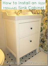 bathroom renovation update how to install an ikea hemnes sink