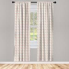 gardine fensterbehandlungen 2 panel set für wohnzimmer schlafzimmer dekor abakuhaus shabby chic kurvige borders roses kaufen otto