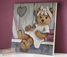 tableau ourson chambre bébé tableau nounours pour déco de chambre d enfant bébé vente de
