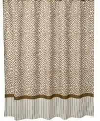 Zebra Print Bathroom Decor by Brown Zebra Shower Curtain Foter