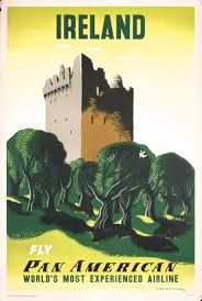 Pan American Travel Poster For Ireland By Edward McKnight Kauffer 1953