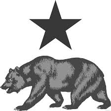 Clip Royalty Free Stock Bear Flag Of Clipartblack Com Animal Clipart Freeuse Download California Black And White