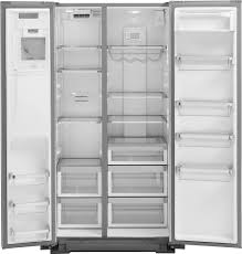 Counter Depth Refrigerator Width 30 by Kitchenaid 22 7 Cu Ft Side By Side Counter Depth Refrigerator