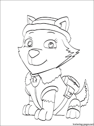 Online For Kid Paw Patrol Coloring Pages 44 With Additional Line Drawings