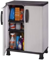 Sterilite 2 Shelf Storage Cabinet 2 Pack by Contico 65 In H X 40 In W X 15 5 In D Resin Multipurpose Cabinet