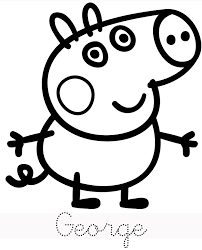George Peppa Pig Coloring Pages