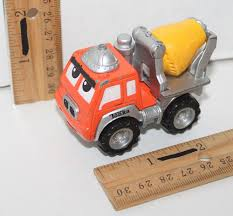 TONKA CHUCK & FRIENDS ORANGE CEMENT TOY DIECAST TRUCK 2.75