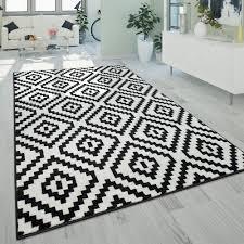 teppich wohnzimmer ethno look 3 d design rauten