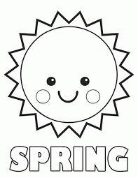 Free Spring Preschool Coloring Page