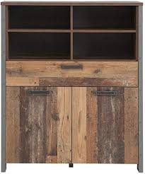 forte wohnzimmerschrank highboard in trendigem vintage