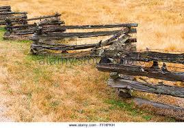 Rustic Western Style Zig Zag Wooden Fence Seen On Salt Spring Island BC