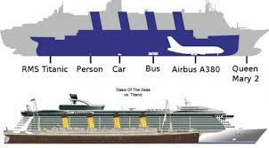 photos modern cruiseship vs titanic truck stuck bridge