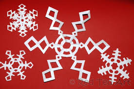 Paper Snowflakes Six Pointed Snowflakes