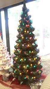 Ceramic Christmas Tree Light Bulbs Elegant In Green With Multi 2 Led Bulb