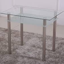 esstisch glas mit 6mm sicherheitsglas facettenschliff glastisch perfekt geeignet als esszimmertisch küchentisch 90x60x75cm satiniert