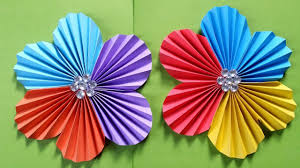 How To Make A Flower With Colour Paper Easy Simple Tutorial
