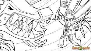 LEGO Ninjago Zane And His Ice Dragon Coloring Pages