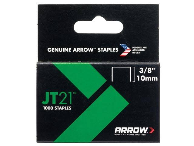 Arrow JT21 Staples - 10mm, 1000 Pack