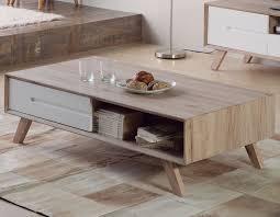 table basse scandinave laqué blanc et couleur bois lars meubles