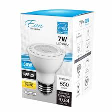 par20 led bulb 7 watt dimmable 50w equiv 550 lumens 40皸 by euri