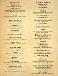 menu lupo s italian steakhouse catering