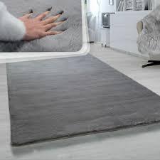 hochflor teppich wohnzimmer anthrazit schwarz grau shaggy