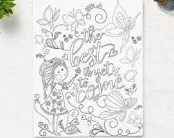 Printable Coloring Page The Best Is Yet To Come Adult Pages Instant Download Digital