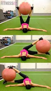 Floor Wiper Exercise Benefits by Windshield Wipers With Stability Ball Fitnessrx For Women