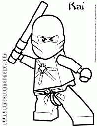 Lego Ninjago Coloring Pages Getcoloringpages Throughout Page