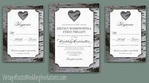 Birch Tree Wedding Invitations Vintage Rustic