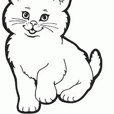 Download Coloring Pages Cute Cat Kids Picture