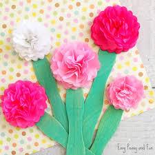 Tissue Paper Flower Craft For Kids