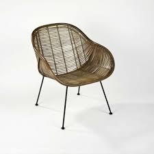 chaise contemporaine en bambou en métal arne lambert