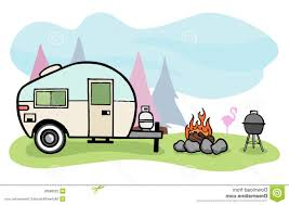 Best Travel Trailer Rv Camping Clip Art Drawing