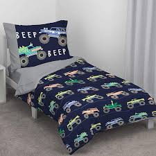 100 Toddler Truck Bedding Carters Monster 4 Piece Bed Set Navy And Grey